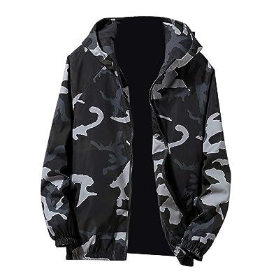 4c8579649ecdb Amazon.com: Amiley mens hoodies,Men's Fashion Camo Sport Hoodie Tops Full  Zip Hooded Sweatshirt Outwear Jacket Coat: Shoes