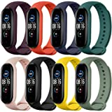Pulseiras de relógio TwiHill para Mi Band 5 2020, pulseira de silicone de estilo clássico Correia de relógio para Xiaomi Smar