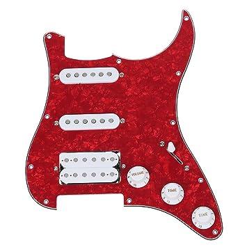 TOOGOO(R) Cargado Pickguard prealambrado para la guitarra electrica --- Rojo: Amazon.es: Juguetes y juegos