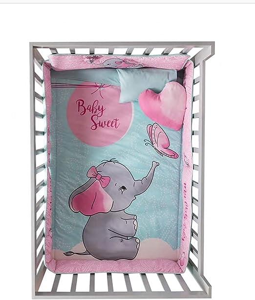 Baby Boys Animal Friends 6 Piece Nursery Crib Bedding Set by Vianney