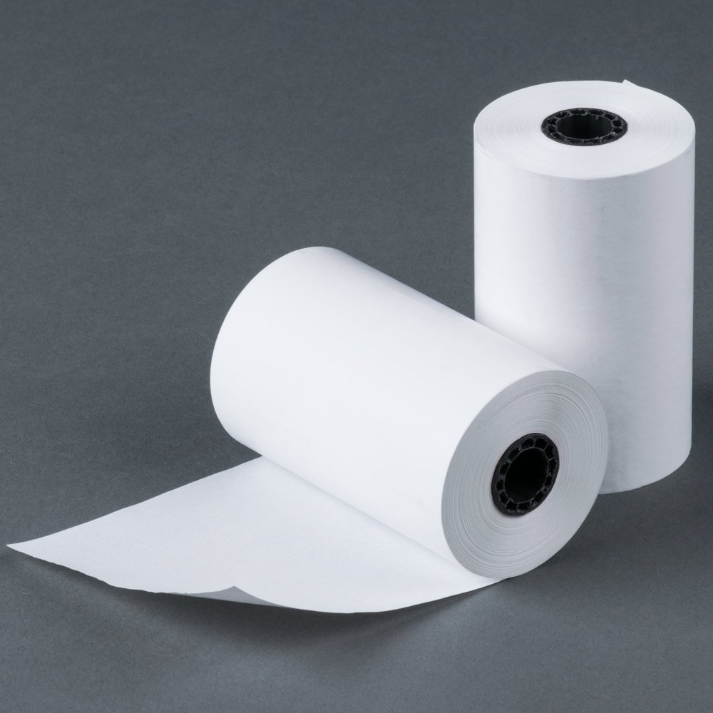 3-1/8'' (80mm) 3.125'' WIDTH 119' 50 Rolls in a Case 7/16'' CORE BPA Free Thermal Paper Rolls Made In USA from BuyRegisterRolls. by BuyRegisterRolls (Image #1)