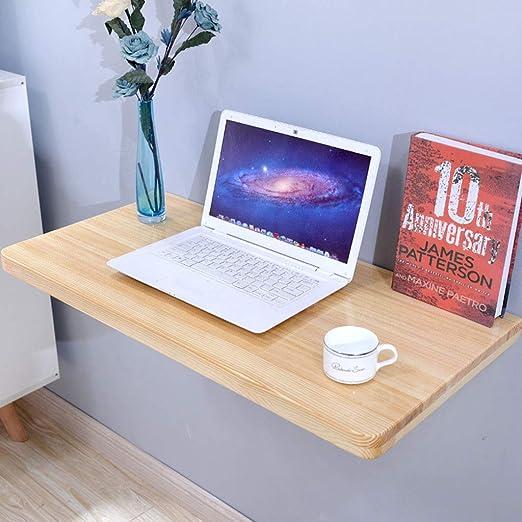 Mesa plegable de Madera Maciza Resistente, Escritorio Plegable ...