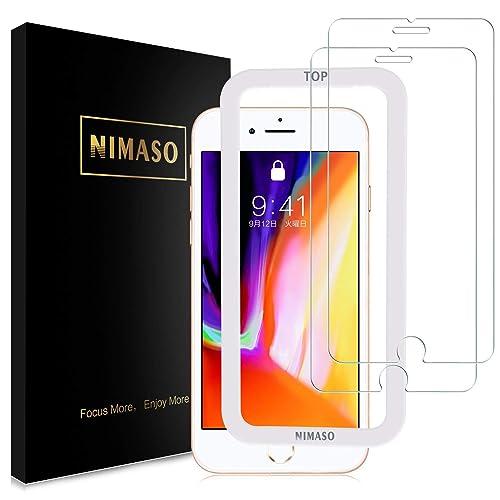 Nimaso iPhone 8/7 用 強化ガラス液晶保護フィルム