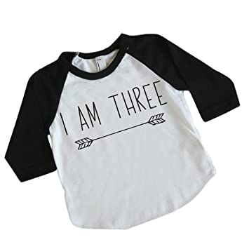 Amazon Boy Third Birthday Outfit Shirt Three