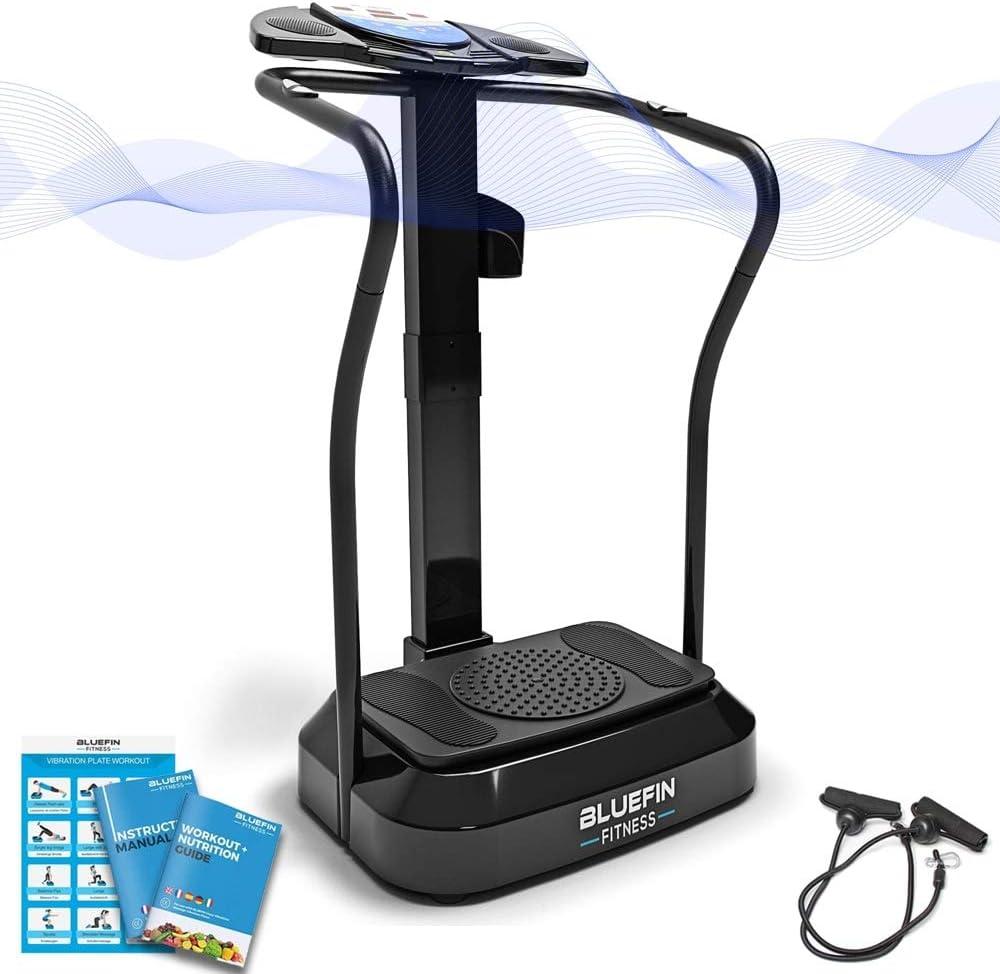 2 Maniglie Integrate 3 modalit/à di Vibrazione con Postura e Guida allUso Professionale CITYSPORTS Pedana Vibrante Fitness CS-600 Piattaforma Vibrante Bluetooth 50 velocit/à Regolabili