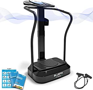 Bluefin Fitness Vibration Platform   Pro Model   Upgraded Design with Silent Motors and Built in Speakers