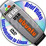 Ubuntu 17.04 on 8gb USB Stick Flash Drive and Complete 3-discs DVD Installation and Reference Set, 32 and 64-bit Newest Release Linux