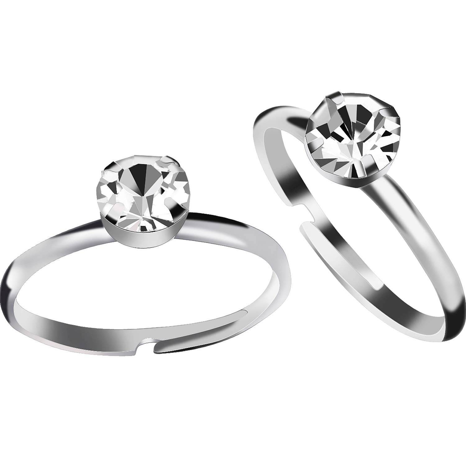 Amazon Aboat 52 Pack Bridal Shower Rings Silver Diamond For Party Supply Table Decorations Favor Accents Toys Games: Cake Topper Wedding Silver Diamond Ring At Websimilar.org