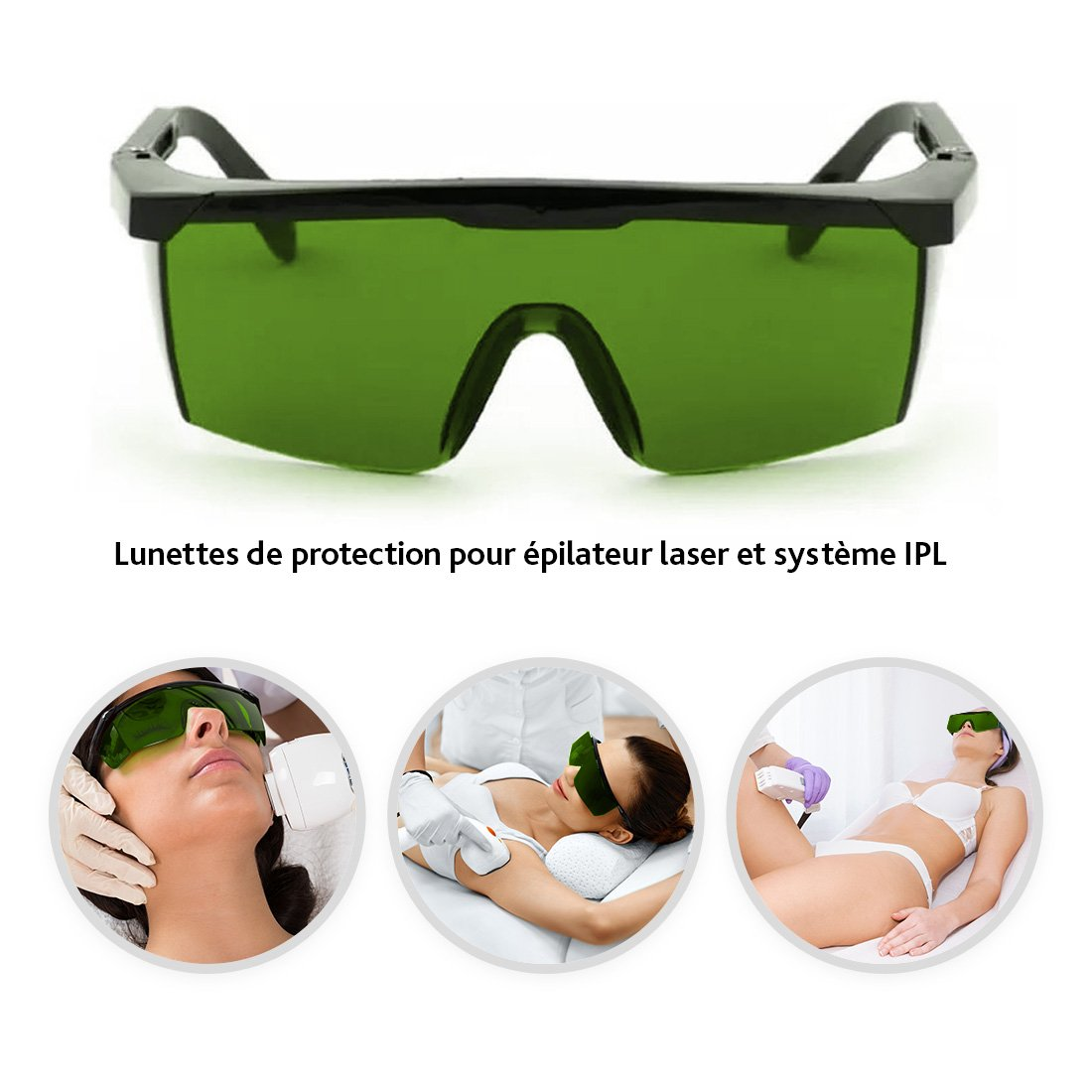 Laser goggles Glasses for permanent hair removal IPL laser hair removal protection glasses O/³ Laser Glasses Protection IPL