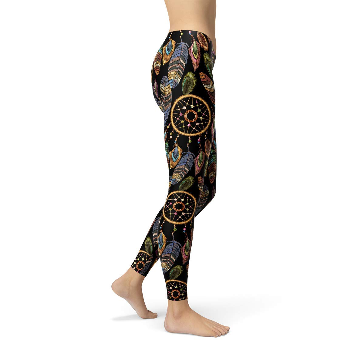 Dream Catchers Leggings for Women Native American Feather Dreamcatchers Yoga Pants