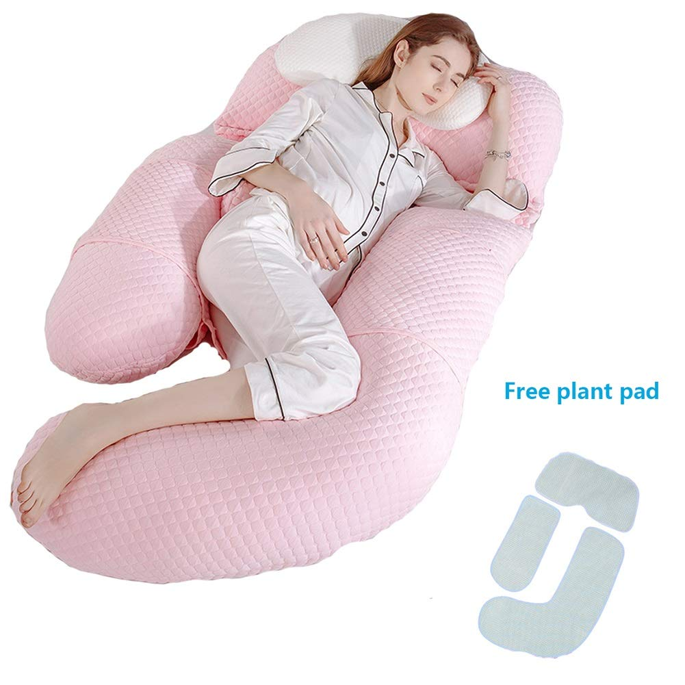 U Shaped Pregnancy Pillow Support Nursing Maternity Pregnancy Pillow with Removable Cover -73 * 33 Full Body Pillow Contoured Support Body Pillow for Side Sleeper Color : Blue