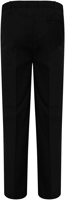 Off The High Street Boys Slim Fit School Trousers Black /& Grey School Uniform