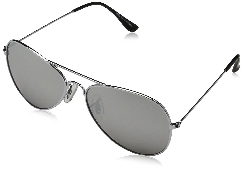 SUNGLASSES 6950 Washington Aviator Sonnenbrille, Glasbreite: 47, Schwarz (Matt Black/Smoke 001)