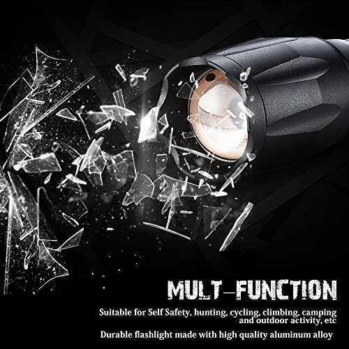 Tactical Led Flashlight, beegod Handheld Bright Led Torch Flashlights Rechargeable