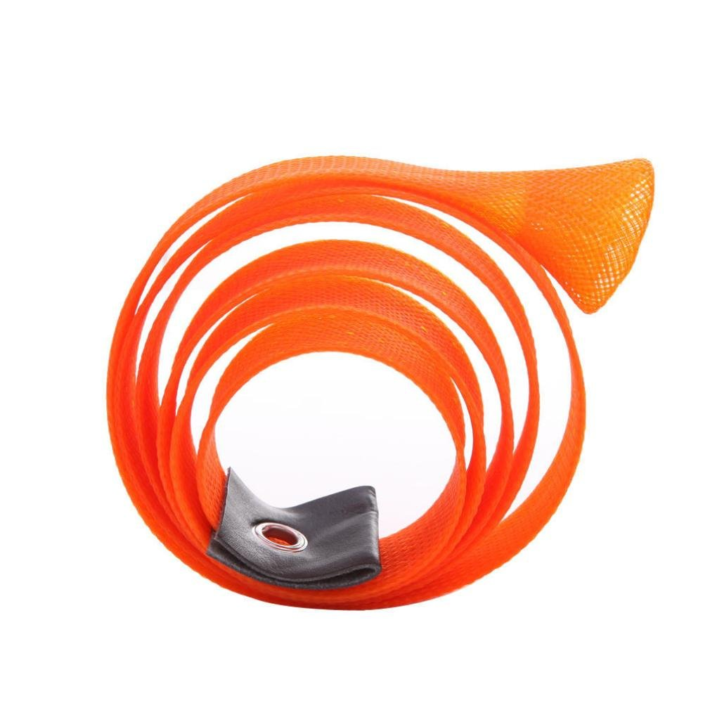 Gotd Fishing Rod Cover Rod Braided Strap Reel Cover Glove Protector (Orange)