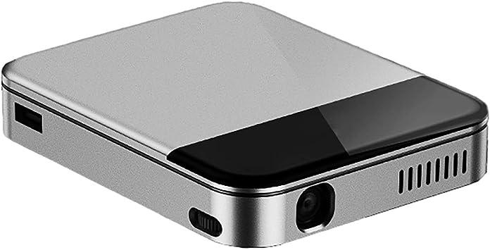 Opinión sobre WiFi inalámbrico 3D proyector inteligente 4K HD LED proyector hogar y al aire libre mini proyector portátil plata