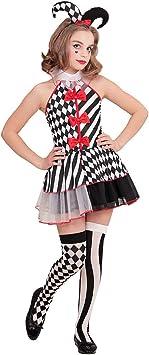 Amakando Original Disfraz de Circo Pierrette para Adolescentes ...