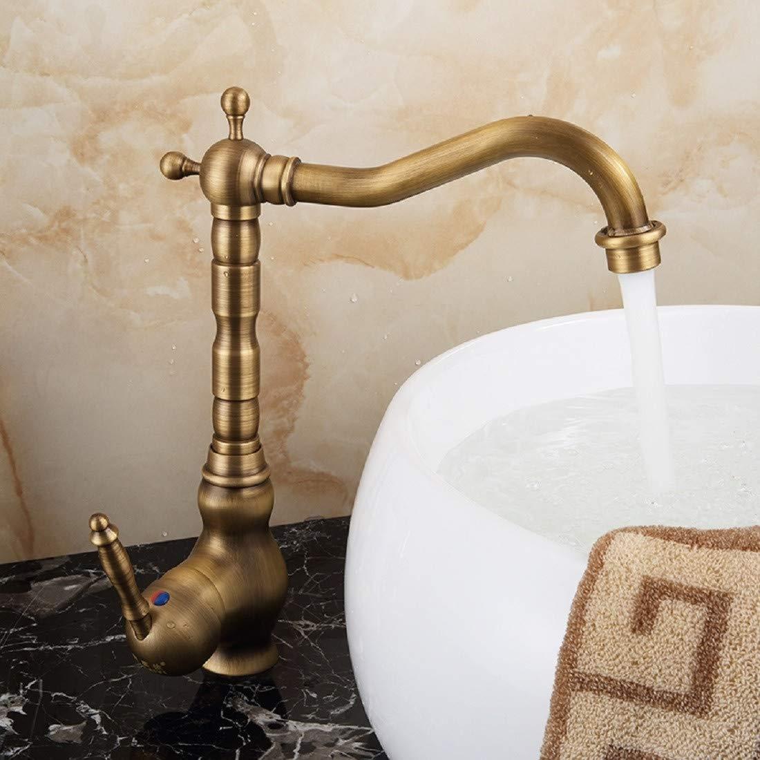Wasserhahn bad Waschtischarmatur waschbecken verdickung single - loch waschbecken top - becken wasserhahn Europäischen stil mit antiken