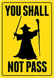 You Shall Not Pass Sign Movie Poster 13 x 19in with Poster Hanger  sc 1 st  Amazon.com & Amazon.com: The Lord Of The Rings - Door Movie Poster (Maps Of ...