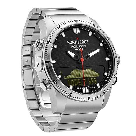 Smartwatches Reloj Deportivo para Hombre Reloj Digital para Hombre Relojes de Lujo Completo Acero Negocio Impermeable