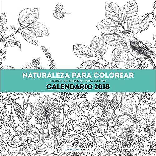 Calendario Naturaleza para colorear 2018: Libérate del estrés de ...