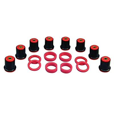 Prothane 7-225 Red Rear Control Arm Bushing Kit with Shells: Automotive