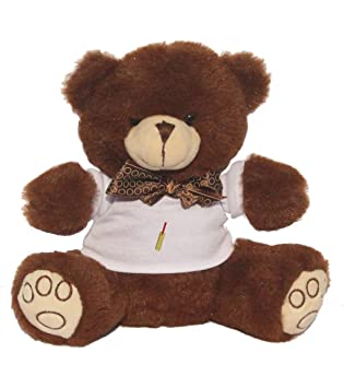 3ce9f5fb0 Teddy Bear with Cricket Bat image t-shirt: Amazon.co.uk: Toys & Games