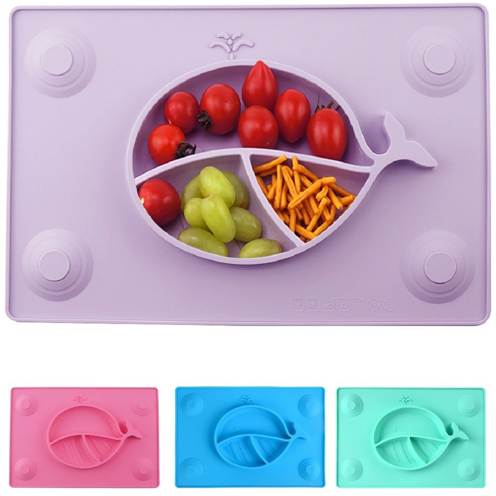 Amazon Com Silicone Placemat Suction Plates For Toddlers