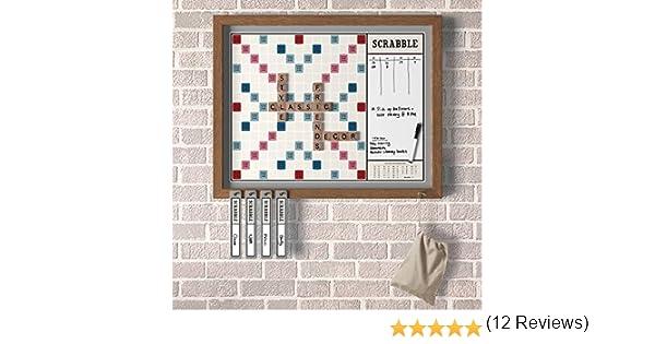Scrabble Deluxe Vintage 2 en 1 Wall Edition con borrado en seco Mensaje Junta: Amazon.es: Juguetes y juegos