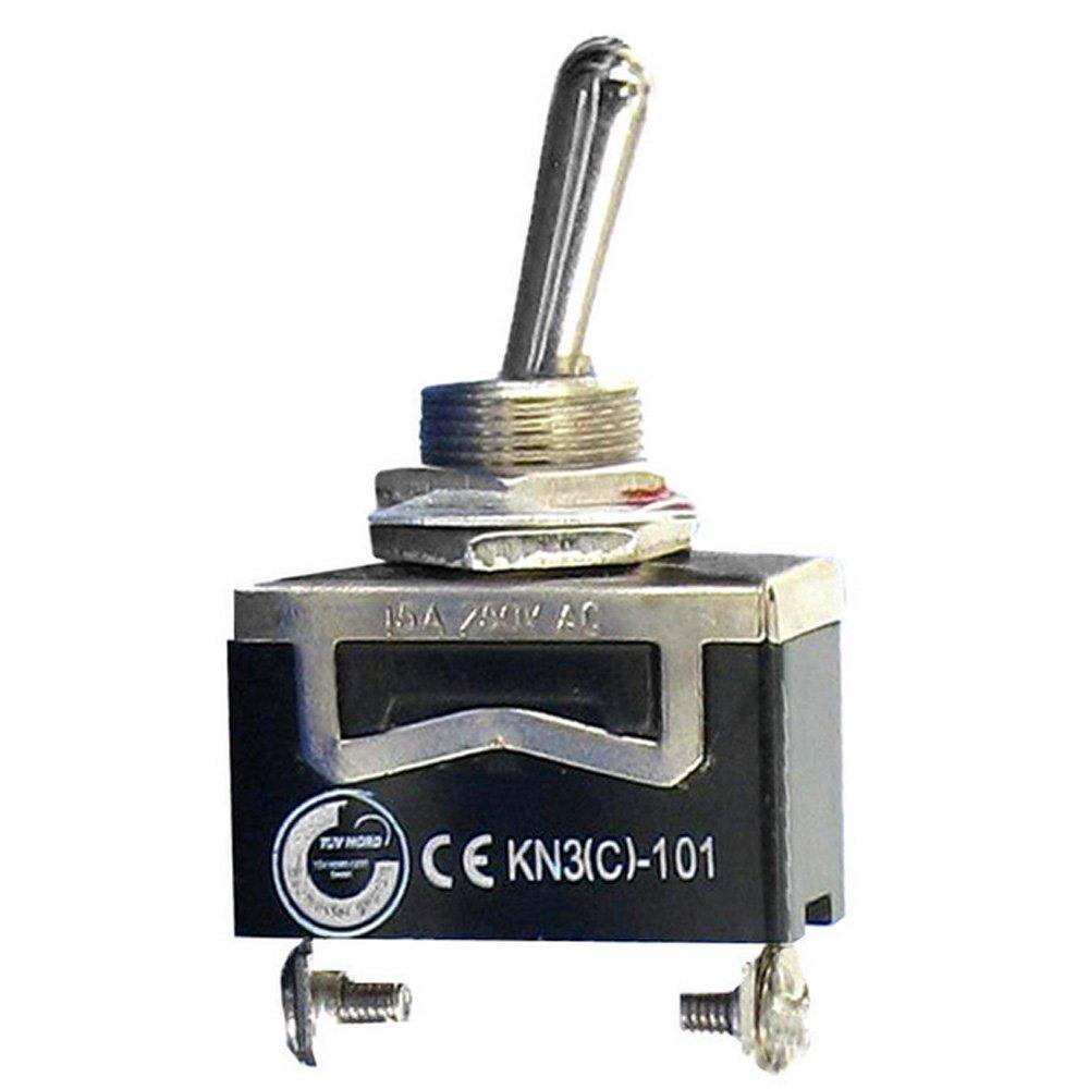 EIN Momentane Metall Mit wasserdicht Schutzkappe -AUS- EIN E Support/™ 3 X 20A 125V 15A 250V Kippschalter Schalter Wippschalter SPDT 3-Polig