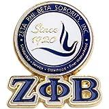 Zeta Phi Beta Sorority 3D Color Shield Pin w/letters
