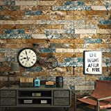 Blooming Wall 3d Faux Stone Brick Wall Mural Wallpaper for Bathroom Kitchen Livingroom Bedroom,Large Size,57 Square ft/roll,981102