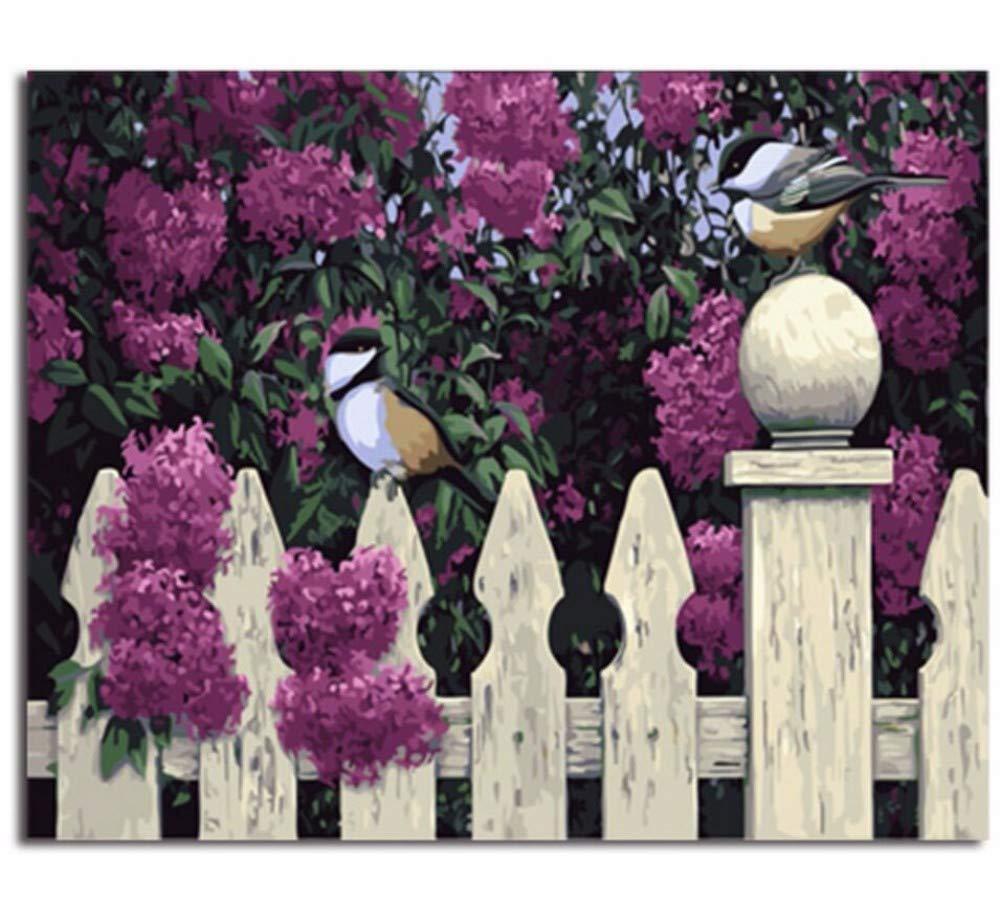 Waofe  Gerahmte Bilder Malen Nach Zahlen Zahlen Zahlen Tierhandarbeit Leinwand Ölgemälde Wohnkultur Für Wohnzimmer B07PMX1RCV | Bunt,  a37704