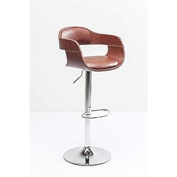 Kare design - Tabouret de bar simili cuir marron vintage Monaco ... 88da6d7392d9