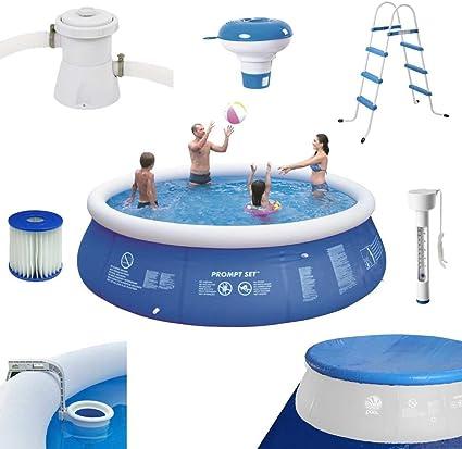 Pool 360 x 90 con escalera Bomba Skimmer Termómetro planificar Dosificador: Amazon.es: Jardín