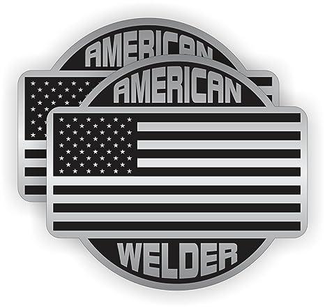 Dos (2) mejor vendedor americano soldador casco de protección pegatinas adhesivos de Unión Estados