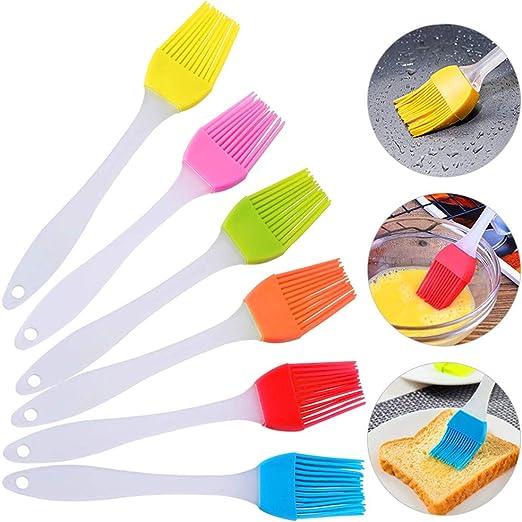 6 Pack de silicona cepillo de hilván, resistente al calor de grado ...