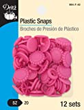 Dritz Plastic Snaps with Flower Design, Hot Pink, Size 20 (1/2-Inch) 12-Count