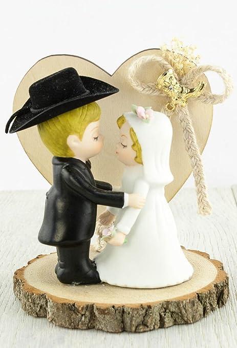 0718d3529a2 Amazon.com: Western Cowboy Wedding Cake Topper: Kitchen & Dining
