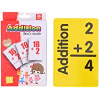 Mathematics Learning Flash Cards Questionno 36pcs Baby Math Card Kids English Learn Arithmetic Early Education Toy (+