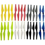 Fytoo 28pcs Propeller for DJI Tello RC Quadcopter Spare Parts Drone Blades Seven Colors