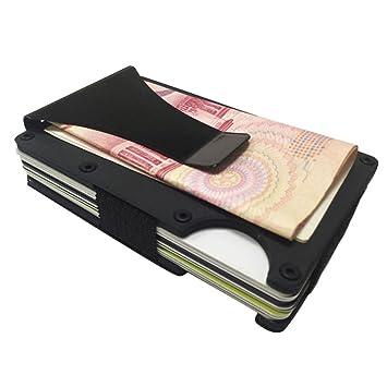 tarjeteros hombre metal carbono billeteras mujer pequeña Sannysis clip de dinero cartera slim billetero tarjetero para