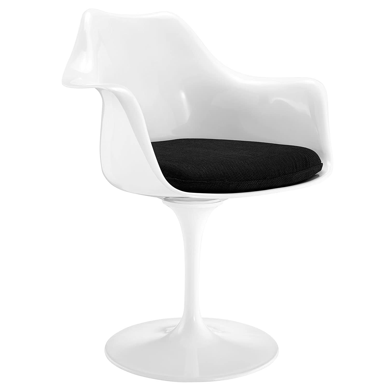 amazon com modway lippa modern dining armchair with fabric