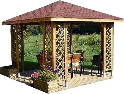 CHECO HOME AND GARDEN - Cenador para jardín, de madera con opción ...