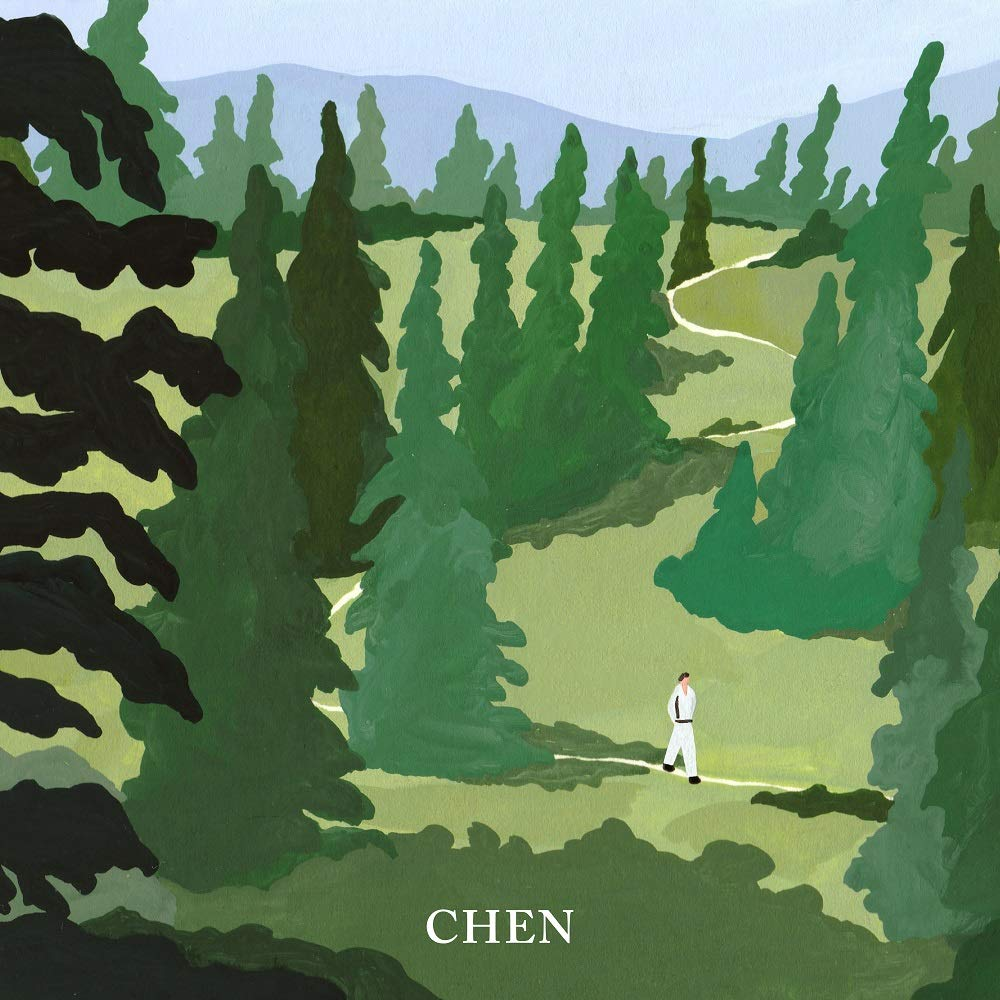SM Entertainment CHEN EXO - April, and a Flower [April ver.] (1st Mini Album) CD+Photobook+1Photocard+1Bookmark+Folded Poster+Double Side Extra Photocards Set