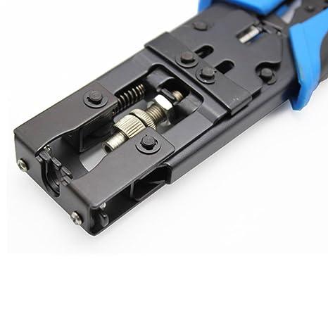Topker Coax Cable Compresor Herramienta de compresión Cortador de alambre para RG58 RG59 RG6 Cable F / BNC / RCA Conectores: Amazon.es: Bricolaje y ...