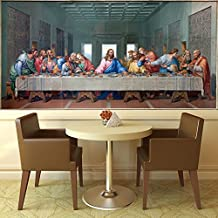 The Last Supper Wall Mural Jesus Christ Photo Wallpaper Religion Home Decor available in 8 Sizes Gigantic Digital