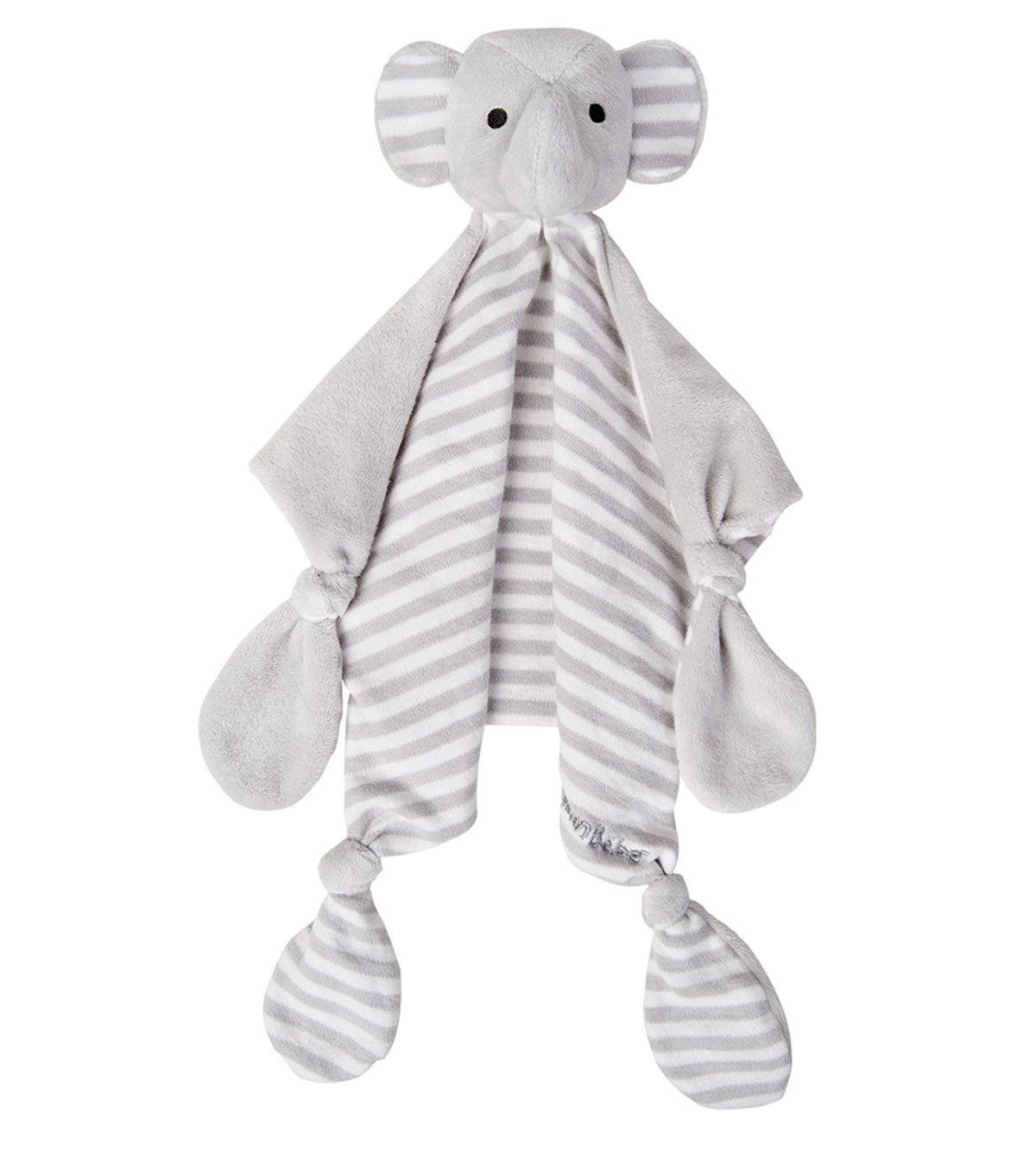 Babysutten SCHMUSETUCH Elefant, Grau-Gestreift, Jojo Maman Bebe nusseklud elefant jojo