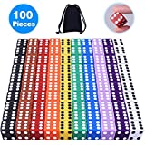 100 games - Austor 100 Pieces Game Dice Set, 10 Colors Square Corner Dice with Free Storage Bag, Play Games Like Tenzi, Farkle, Yahtzee, Bunco or Teaching Math