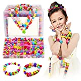Arts & Crafts : Kyson 550PCS Crafting Beads Set DIY Jewellery Making Kit for Girls Necklace and Bracelet,Perfect Christmas Birthday Gift,Must-have Toys for Kids